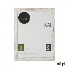 Ramka na zdjęcia KAI 30 x 40 cm biała shabby MDF INSPIRE (3276000394334) - ogłoszenia A6.pl