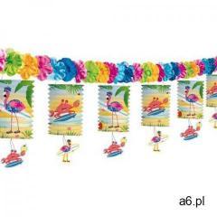 Girlanda kolorowe lampiony z flamingami - 360 cm marki Folat - ogłoszenia A6.pl