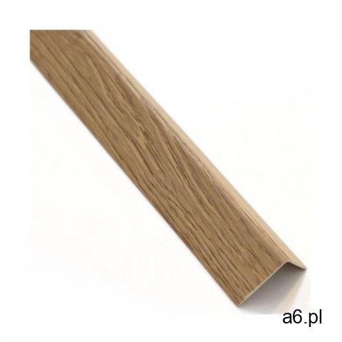 Kątownik PVC 2.6 m x 11 x 11 mm matowy dąb salinas - 1