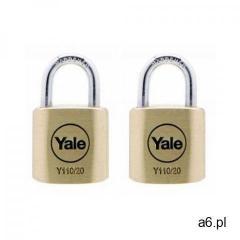 Yale Y110/20/111/2 zestaw dwóch kłódek mosiężnych - ogłoszenia A6.pl