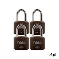 Y110j/15/111/4 zestaw 4 kłódek mosiężnych marki Yale - ogłoszenia A6.pl