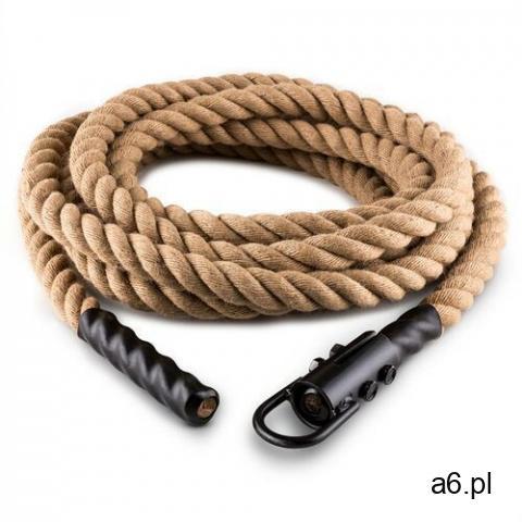 Capital Sports Lina Power Rope z hakiem 15 m 3,8 cm Lina konopna do ćwiczeń siłowych Zamocowanie suf - 1