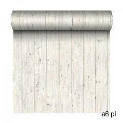Tapeta wood wall plane biała imitacja deski winylowa na flizelinie marki Wallfashion - ogłoszenia A6.pl