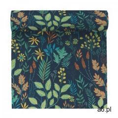 Tapeta w kwiaty i liście flower zielona winylowa na flizelinie marki Erismann - ogłoszenia A6.pl