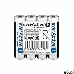 Baterie alkaliczne aaa/lr03 pro alkaline 4 sztuki marki Everactive - ogłoszenia A6.pl