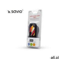 Kabel męski SAVIO CLS-14 RCA M RCA x 3 M 2m- natychmiastowa wysyłka, ponad 4000 punktów odbioru! (59 - ogłoszenia A6.pl