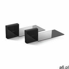 MELICONI Zestaw 2 maskownic do kabli + 2 szklane półki Ghost Cubes Soundbar czarny - ogłoszenia A6.pl