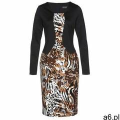 Sukienka bonprix wielbłądzia wełna - czarno-szary leo - ogłoszenia A6.pl
