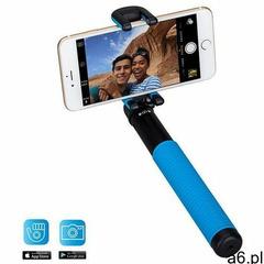 Uniwersalny kij do selfie Momax Selfie Hero z pilotem Bluetooth (100 cm) niebieski (4894222041035) - ogłoszenia A6.pl