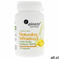 Kapsułki Naturalna witamina E octan d-alfa-tokoferylu 400IU 100k Aliness - ogłoszenia A6.pl