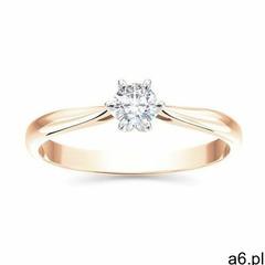Pierścionek z różowego i białego złota z białym szafirem ap-6622pb, kolor różowy - ogłoszenia A6.pl