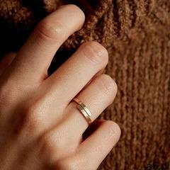 Pierścionek obrączka złota stal szlaczetna, kolor szary - ogłoszenia A6.pl