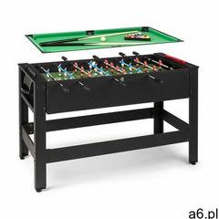 Klarfit spin 2 w 1, stół do gier, bilard, piłkarzyki, 180° obrotowy, akcesoria do gier, czarny - ogłoszenia A6.pl