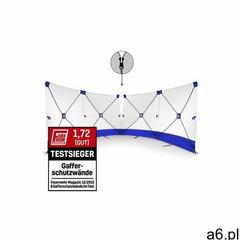 Parawan zasłaniający VarioScreen 4*180*180 dzielony pośrodku niebieski - ogłoszenia A6.pl