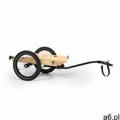 Klarfit companion travel, przyczepka transportowa, 40 kg, przyczepka rowerowa, czarna/drewniana (406 - ogłoszenia A6.pl
