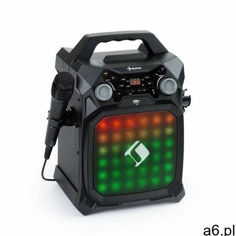 Auna Rockstar LightShow, sprzęt karaoke, bluetooth, USB, Line-In/Out, 2 x 6,3mm, czarny - 1