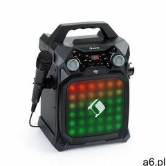 Auna Rockstar LightShow, sprzęt karaoke, bluetooth, USB, Line-In/Out, 2 x 6,3mm, czarny - ogłoszenia A6.pl