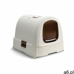 kuweta toaleta dla kota beżowa + aristocat żwirek silikonowy premium dla kotów 3.8 l bezzapachow - ogłoszenia A6.pl