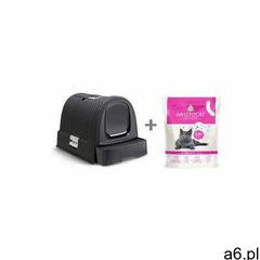 kuweta toaleta dla kota grafit/szary + aristocat żwirek silikonowy premium dla kotów 3.8 l bezza - ogłoszenia A6.pl
