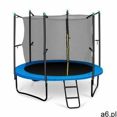 Klarfit rocketboy 250 trampolina 250cm siatka bezpieczeństwa wewnątrz, szeroka drabinka, niebieska ( - ogłoszenia A6.pl