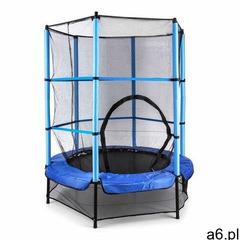 rocketkid trampolina 140 cm siatka bezpieczeństwa wewnątrz, sprężyny bungee, niebieska marki Klarfit - ogłoszenia A6.pl