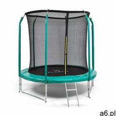 KLARFIT Jumpstarter, trampolina, średnica siatki 2,5 m, nośność 120 kg max., ciemnozielona - ogłoszenia A6.pl