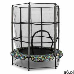KLARFIT Rocketkid 5 trampolina 140cm siatka zabezpieczająca amortyzacja z liny bungee kwiatowy desig - ogłoszenia A6.pl
