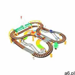 It 2w1!! duży (192 elementy!!) tor wyścigowy/kolejka elektryczna + oświetlenie + efekty dźwi - ogłoszenia A6.pl