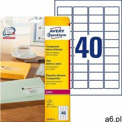 Avery zweckform Etykiety adresowe przezroczyste a4 25ark./op. 45,7x25,4mm (4004182047705) - ogłoszenia A6.pl