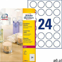 Avery zweckform Etykiety przezroczyste crystal clear a4 25ark./op. Ø40mm - ogłoszenia A6.pl