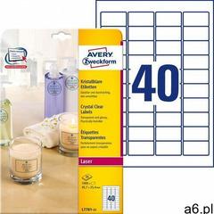 Etykiety przezroczyste crystal clear a4 25ark./op. 45,7x25,4mm marki Avery zweckform - ogłoszenia A6.pl