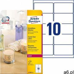 Etykiety przezroczyste Crystal Clear Avery Zweckform A4 25ark./op. 96x50,8mm (4004182252550) - ogłoszenia A6.pl