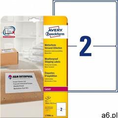 Etykiety wysyłkowe odporne na zmiany pogodowe Avery Zweckform A4 25ark./op. 199,6x143,5mm białe - ogłoszenia A6.pl