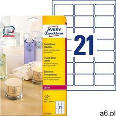 Avery zweckform Etykiety przezroczyste crystal clear a4 25ark./op. 63,5x38,1mm - ogłoszenia A6.pl