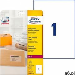 Avery zweckform Etykiety wysyłkowe przezroczyste a4 25ark./op. 210x297mm - ogłoszenia A6.pl