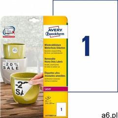 Avery zweckform Etykiety heavy duty a4 20ark./op. 210x297mm białe poliestrowe -usuwalne - ogłoszenia A6.pl