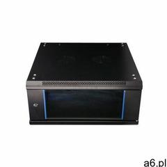 Extralink szafka wisząca rack 4u 600x600 czarna szklane drzwi - ogłoszenia A6.pl