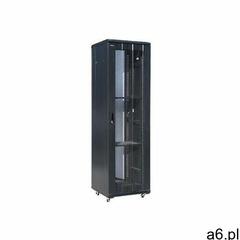 A-lan Alantec szafa 42u 600x1000, drzwi przednie szklane, osłona tylna metalowa perforowana, zamek,  - ogłoszenia A6.pl