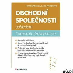 Obchodní společnosti pohledem Corporate Governance Tomáš Moravec (9788027112173) - ogłoszenia A6.pl