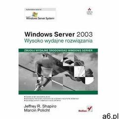 Windows Server 2003. Wysoko wydajne rozwiązania Praca zbiorowa - ogłoszenia A6.pl