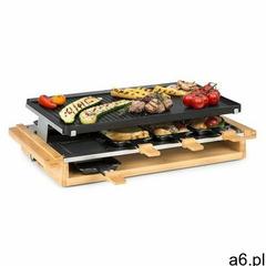 Klarstein tournedo, grill raclette, 1200 w, odlew aluminiowy, na 8 osób, zdobienie drewniane (406065 - ogłoszenia A6.pl