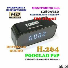Szpiegowska Kamera HD WiFi/P2P Dzienno-Nocna (Cały Świat!) Ukryta w Zegarku Biurkowym + Zapis... - ogłoszenia A6.pl