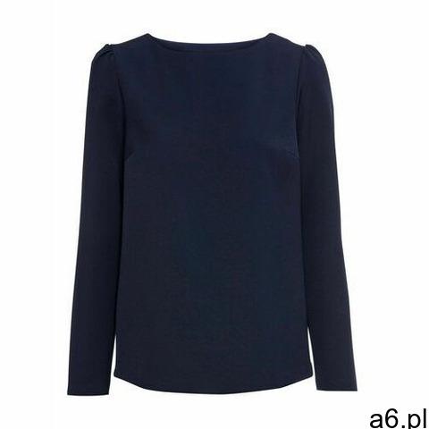 Bluzka z koronkową wstawką ciemnoniebieski marki Bonprix - 1
