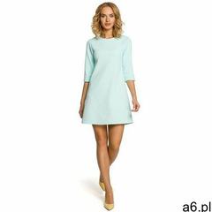 M029 Gładka tunika sukienka trapezowa - miętowa, 96967 - ogłoszenia A6.pl