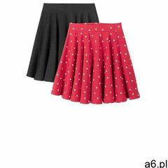 Spódnica dziewczęca (2 szt.) bonprix antracytowy melanż-czerwono-biel wełny - ogłoszenia A6.pl