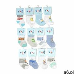 Skarpety yo! skc baby boys 0-9 m-cy a'12 rozmiar: 0-3 miesiące, kolor: wielokolorowy, yo! - ogłoszenia A6.pl