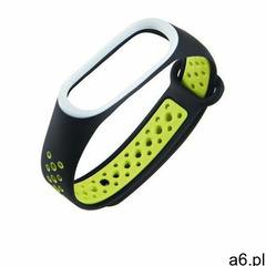 Hurtel Zamienna silikonowa opaska pasek do xiaomi mi band 4 / mi band 3 dots czarno-zielony - ogłoszenia A6.pl