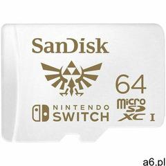 KARTA SANDISK NINTENDO SWITCH microSDXC 64 GB 100/60 MB/s V30 UHS-I U3 - ogłoszenia A6.pl
