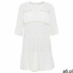 Sukienka tunikowa z koronką bonprix biel wełny, kolor biały - ogłoszenia A6.pl