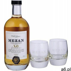 Zestaw rum mezan x.o barrique aged jamaica + 2 szklanki 40% 0,7l marki Mezan rum - ogłoszenia A6.pl